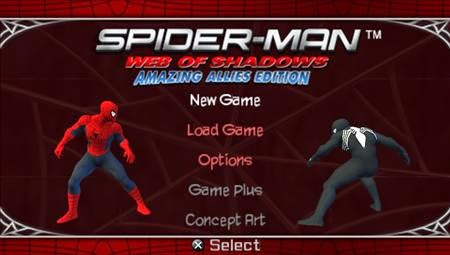 Download full games: spider man web of shadows.
