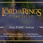 Lord of The Rings Tactics PSP ISO