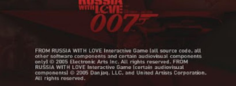 007 From Russia With Love PS2 ISO