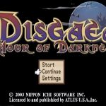 Disgaea Hour of Darkness PS2 ISO