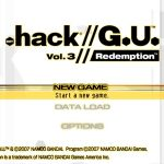 .hack // G.U. Vol 3 Redemption PS2 ISO