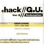 .hack // G.U. Vol 3 Redemption PS2 ISO