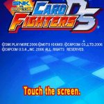 SNK Vs Capcom Card Fighters NDS Rom