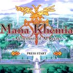 Mana Khemia Alchemist of Al Revis PS2 ISO