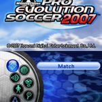 Winning Eleven Pro Evolution Soccer 2007 NDS Rom