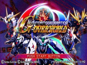SD Gundam G Generation Overworld English Patch PSP ISO - Download
