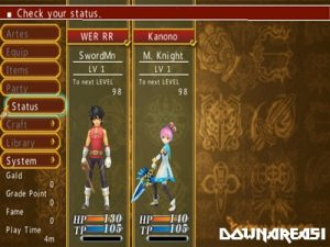 Tales of The World Radiant Mythology 2 English Patch PSP ISO