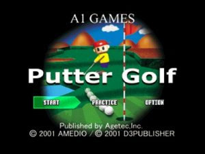 Take the fine by fourth dimension of miniature golf game together with add together the zany feature video game together with y Putter Golf PS1 ISO